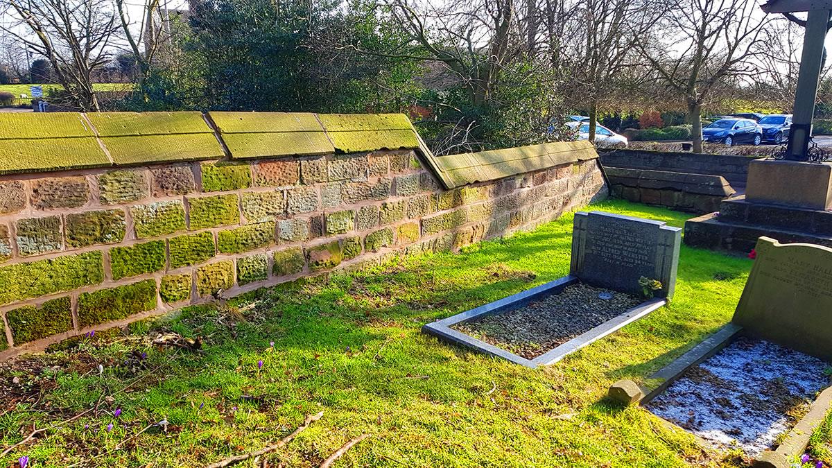 alvanley churchyard wall repair