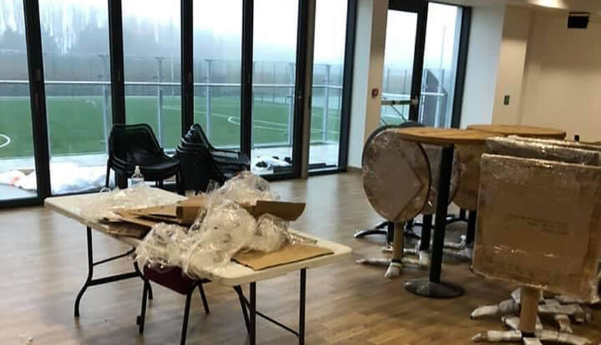New furniture delivered to Helsby Community Sports Club